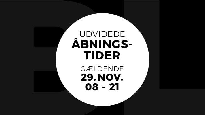 Black friday udviede åbningstider fredag den 29. november