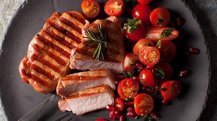 Rosmarinrøget grillkotelet